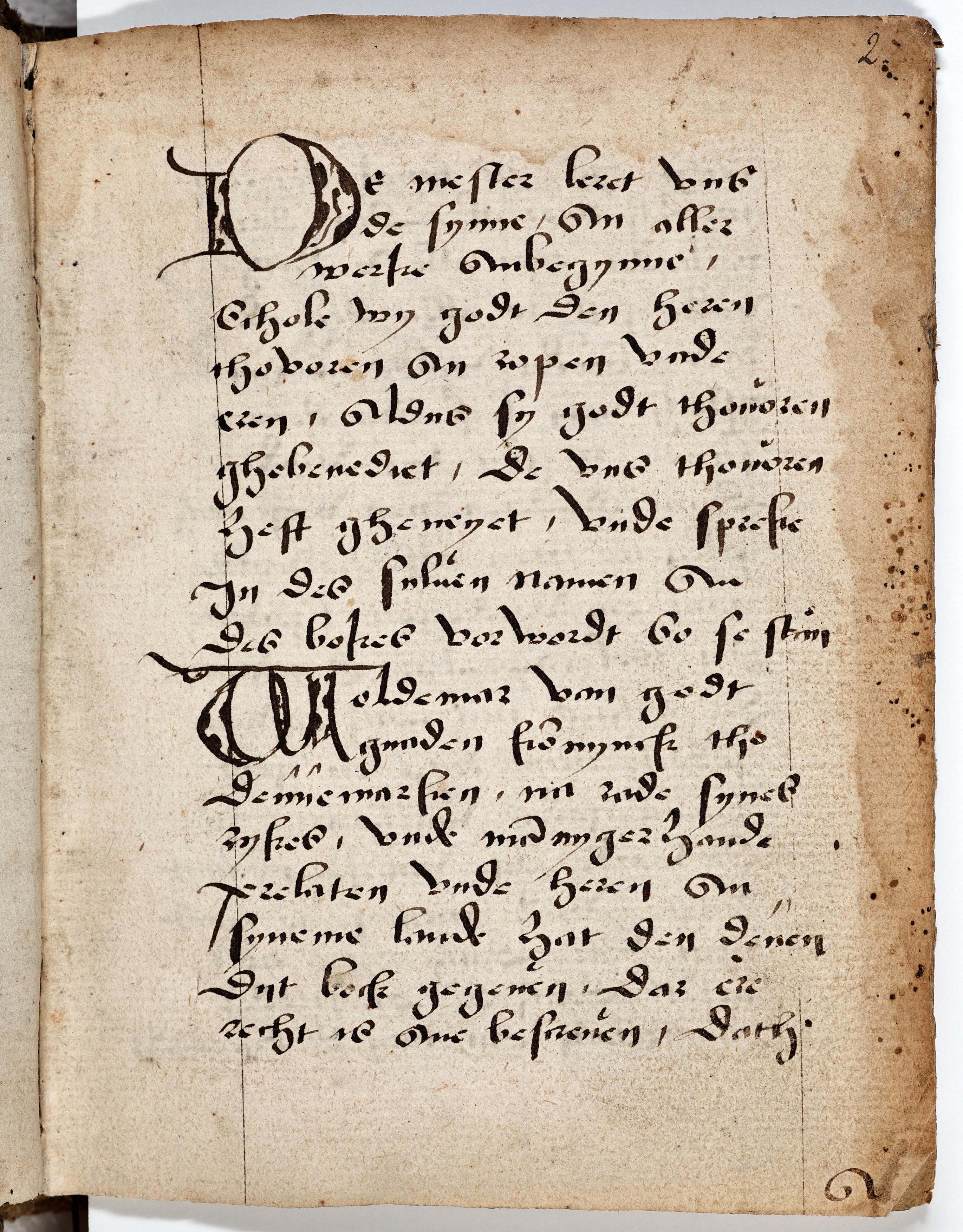 The opening of the rhymed preface to Jyske lov in Low German